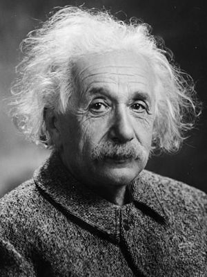 Alles mit links: Albert Einstein